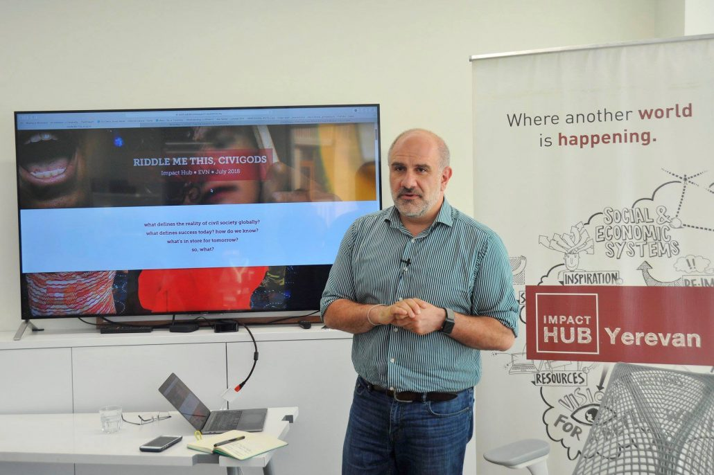 Alex Sardar at Impact Hub Yerevan