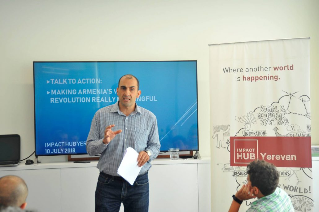Sassoon Grigorian at Impact Hub Yerevan