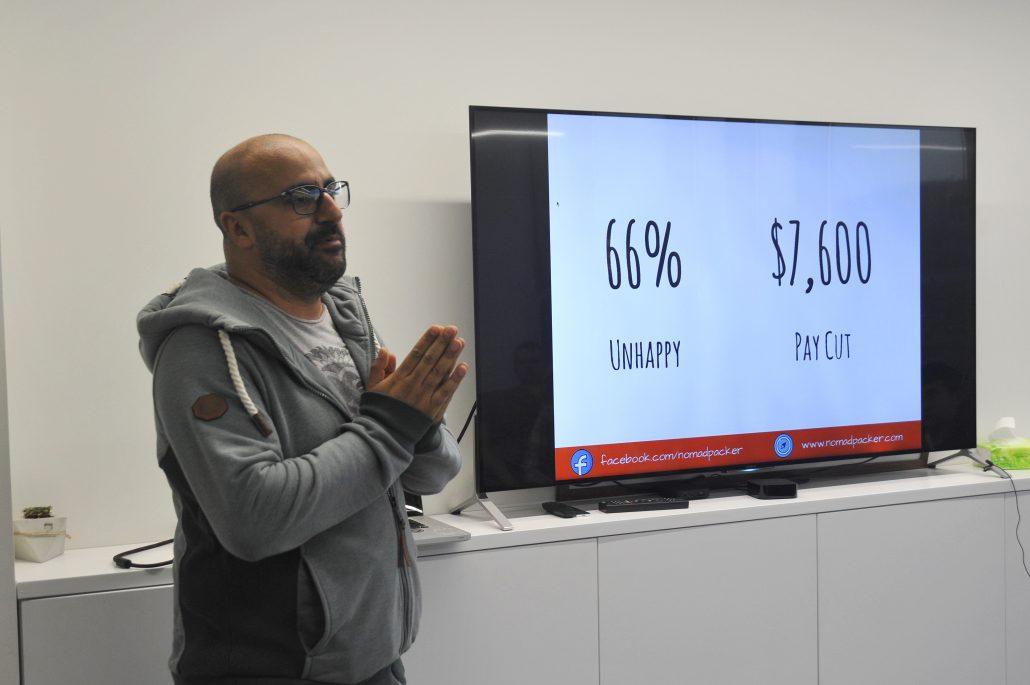 Adil Gherib at Impact Hub Yerevan