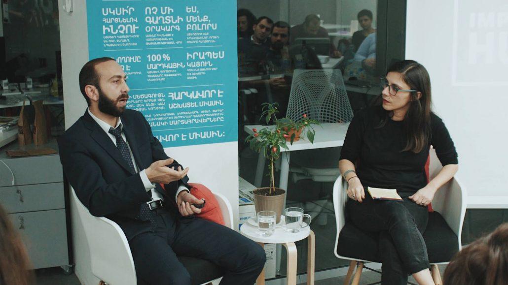 Ararat Mirzoyan at Impact Hub Yerevan