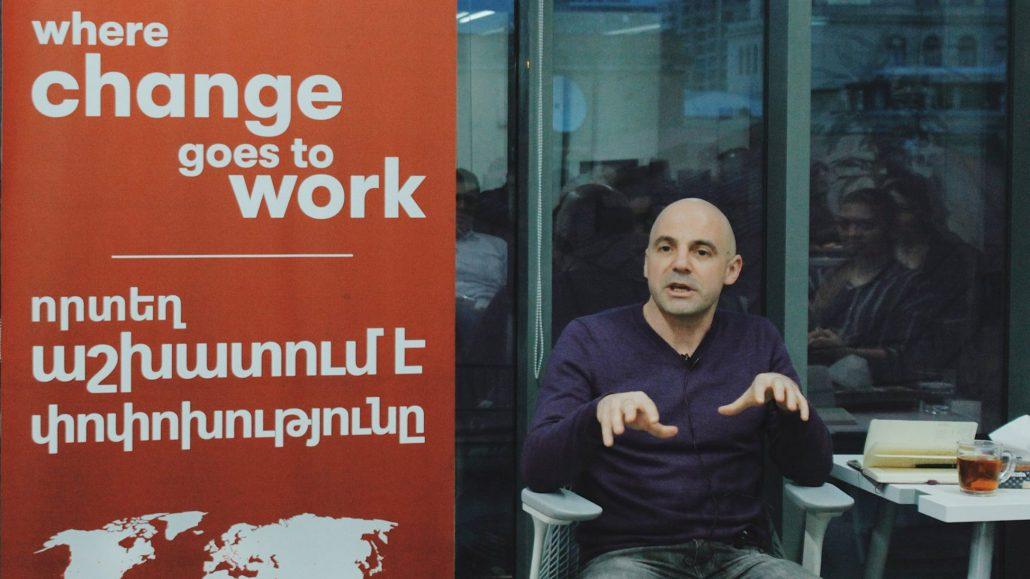 Karén Gyulbudaghyan at Impact Hub Yerevan