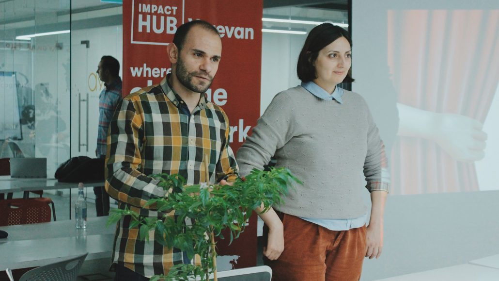 Arman Khachatryan and Laura Gevorgyan at QuickTalks 3.0