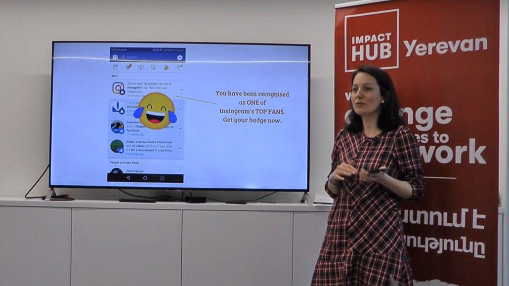 Anna Khachatryan at Impact Hub Yerevan