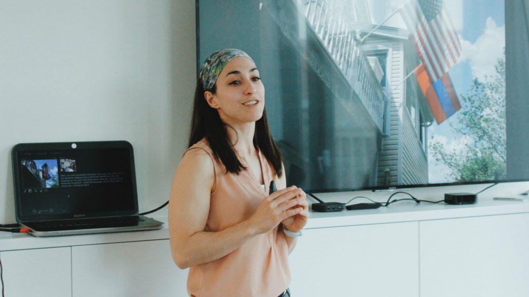 Houry Gebeshian at Impact Hub Yerevan