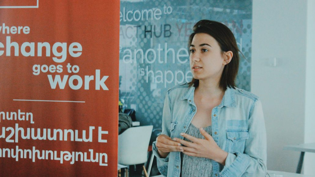 Sona Karapoghosyan at QuickTalks, Impact Hub Yerevan