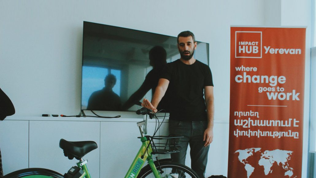 Albert Manukyan of YerevanRide at Impact Hub Yerevan